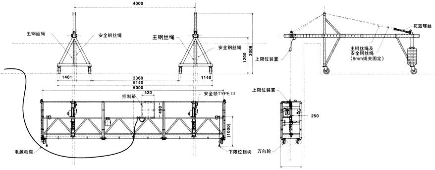 吊篮三相电机接线图